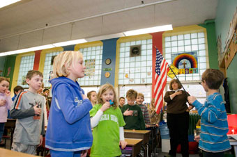 Pilgrim Lutheran Pledge Allegiance to the Flag